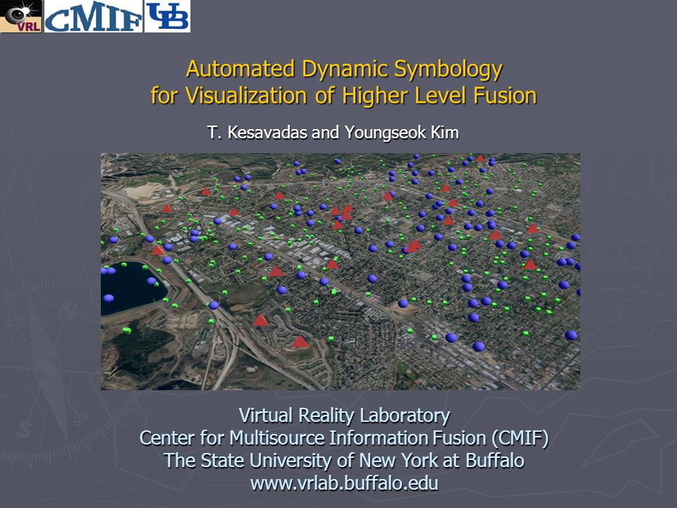 Automated Dynamic Symbology for Visualization of Higher Level Fusion T. Kesavadas and Youngseok Kim Virtual Reality Laboratory Center for Multisource