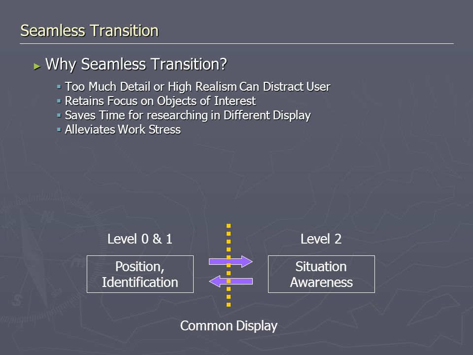 ► Why Seamless Transition.