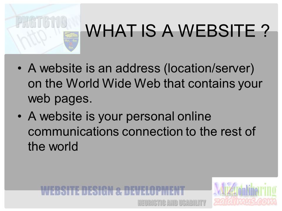 WHAT IS A WEBSITE .