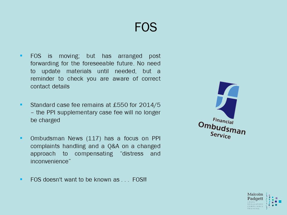 FOS  FOS is moving; but has arranged post forwarding for the foreseeable future.