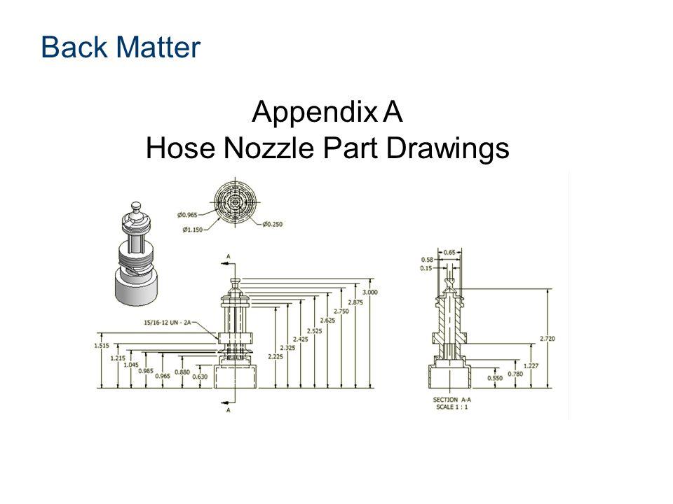 Appendix A Hose Nozzle Part Drawings Back Matter