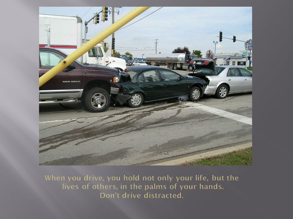  In 2010, nearly one in five crashes (18%) in which someone was injured involved distracted driving.