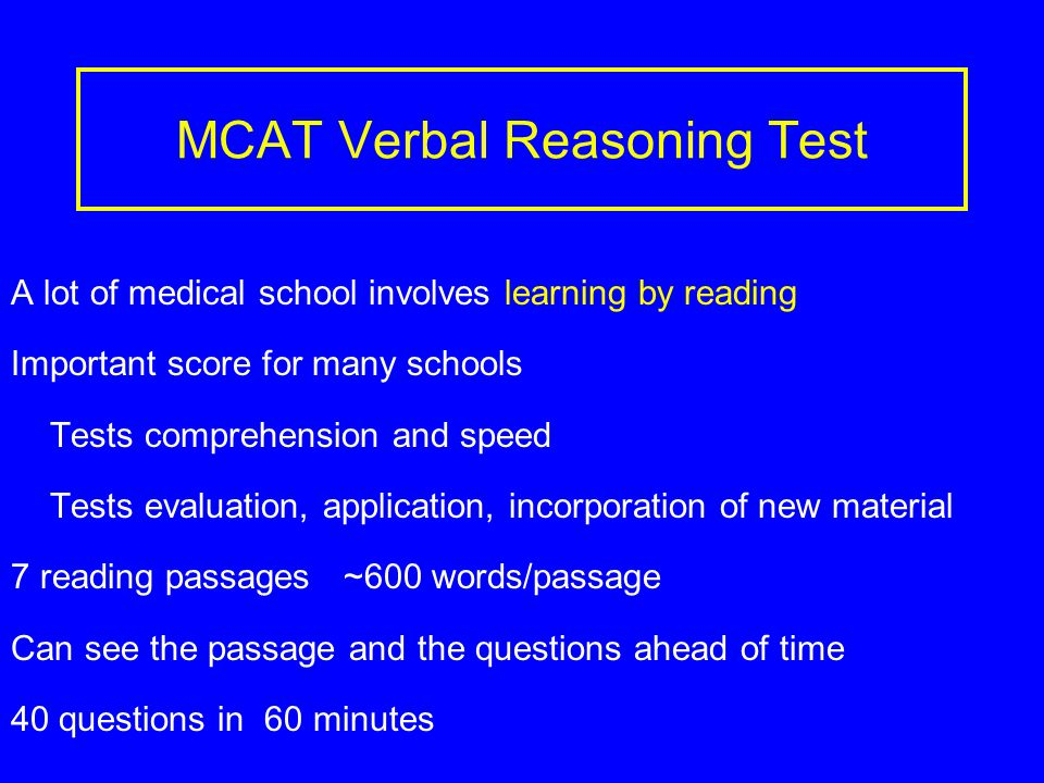 MCAT Writing Test Writing sample 2 questions 60 minutes Develop an idea, bring together your ideas, present them logically, write clearly Advice on preparing for writing essays Take courses where your writing will be critiqued Use sample prompts on AAMC site to practice writing Practice discussing essay topics with friends