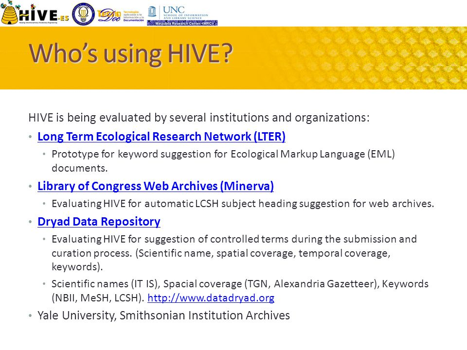 Who's using HIVE.