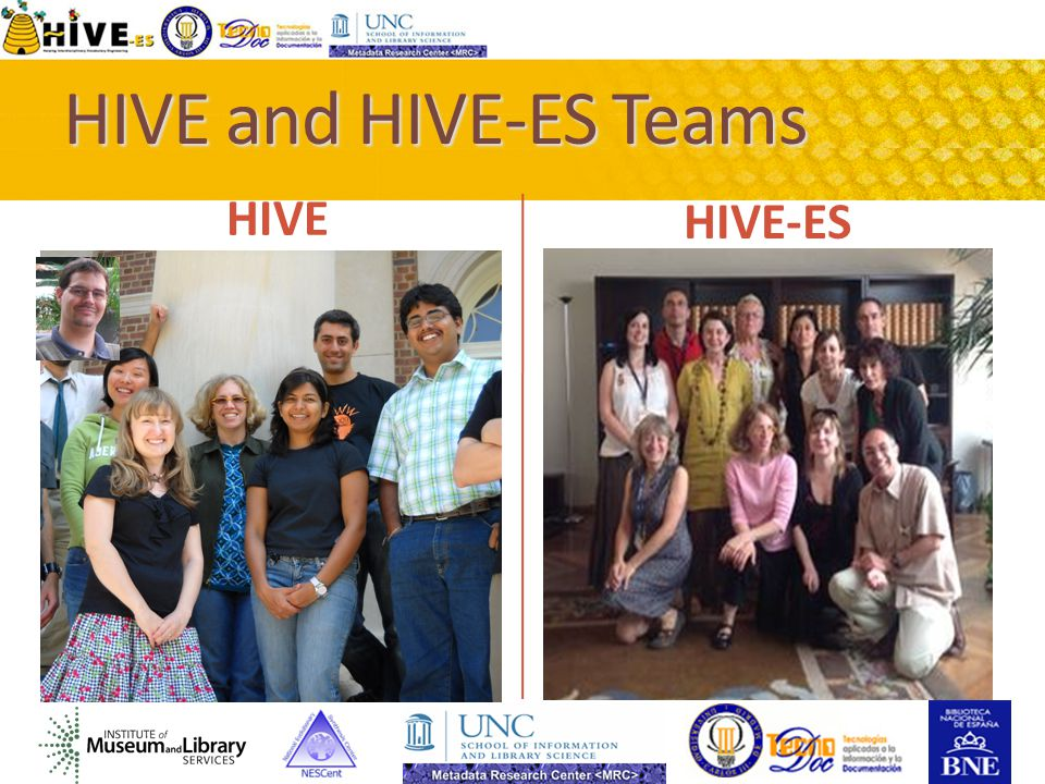 HIVE and HIVE-ES Teams HIVE HIVE-ES