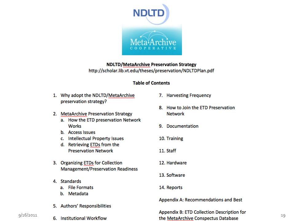199/16/2011DDP Workshop for ETDs