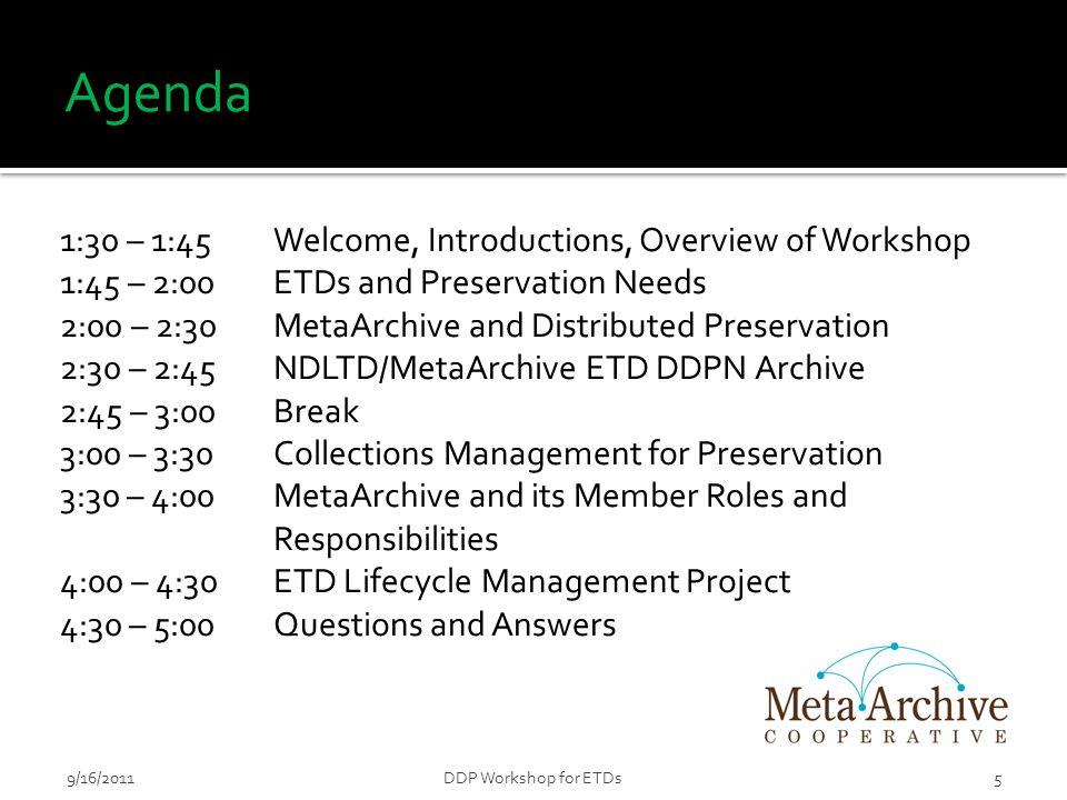 169/16/2011DDP Workshop for ETDs