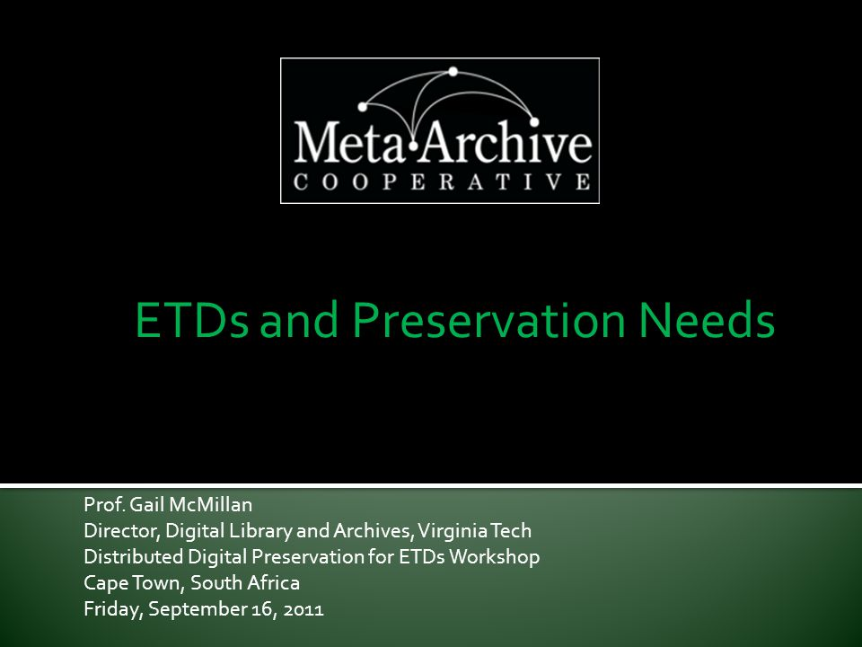 What is Digital Preservation.