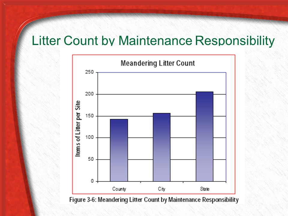 Litter Count by Maintenance Responsibility