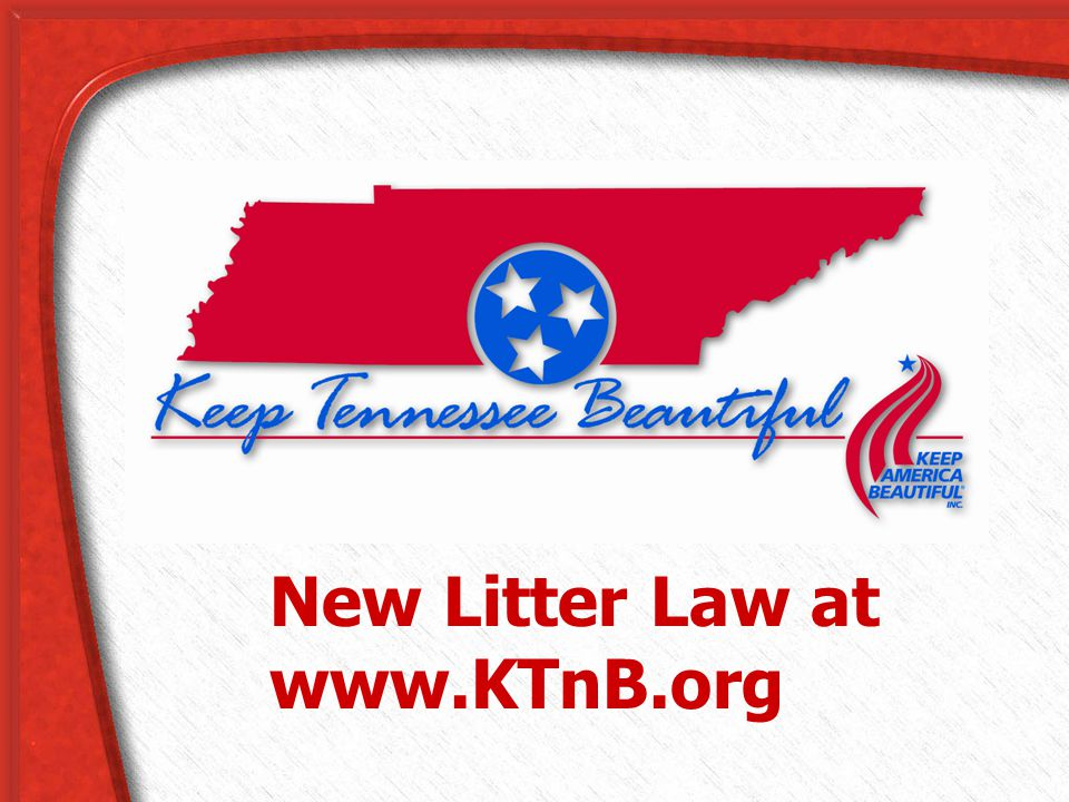 New Litter Law at www.KTnB.org