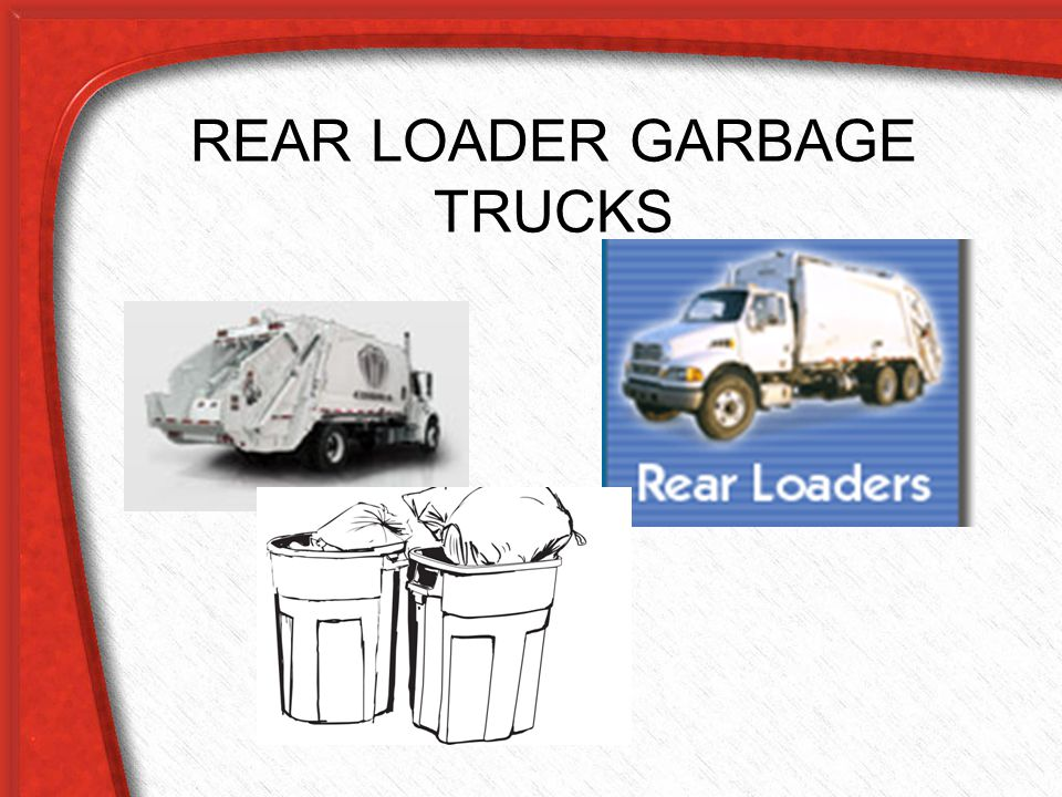 REAR LOADER GARBAGE TRUCKS