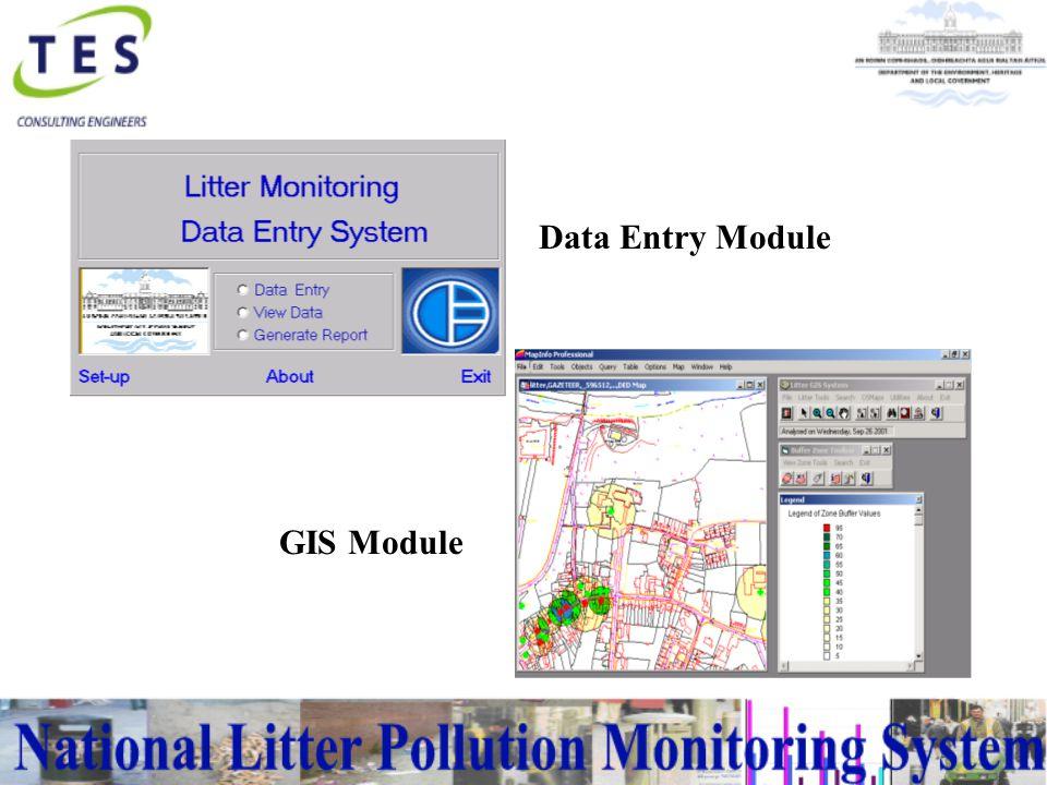 GIS Module Data Entry Module