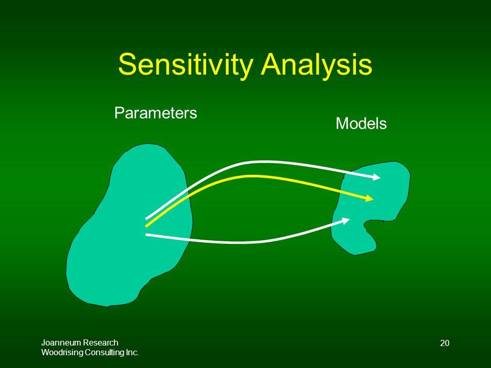 Joanneum Research Woodrising Consulting Inc. 20 Sensitivity Analysis Parameters Models