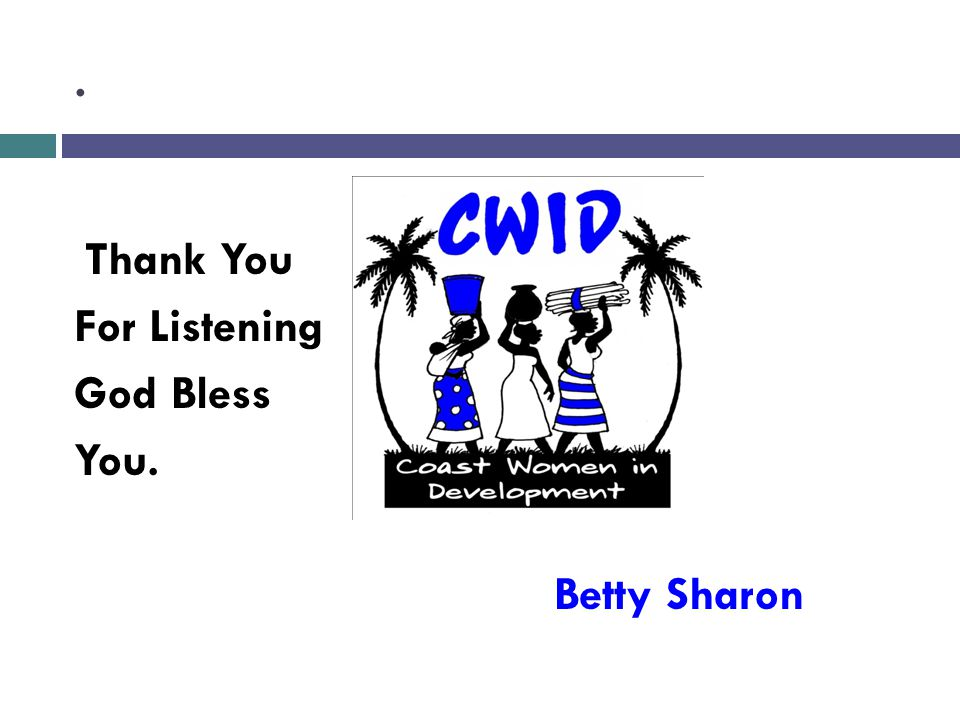. Thank You For Listening God Bless You. Betty Sharon