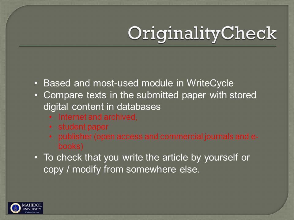 Originality report