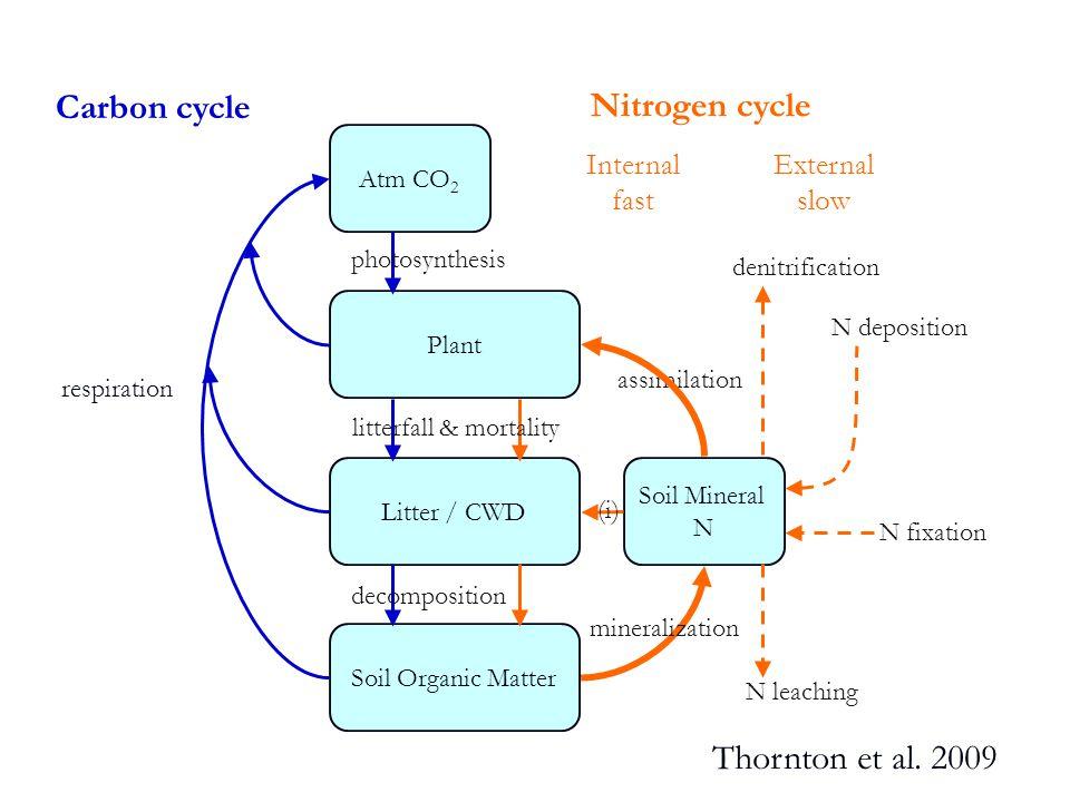 Adding inorganic N Lu et al.2011, New Phytologist Fire Wan et al.