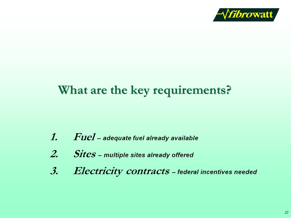 22 What are the key requirements.