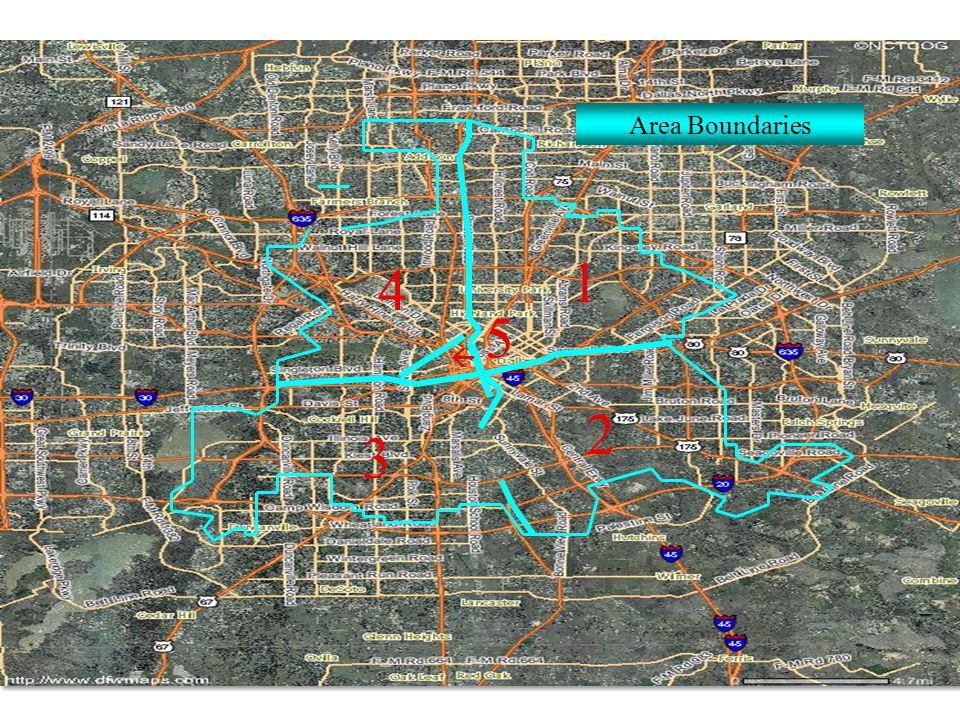 1 2  4 Area Boundaries 5 3