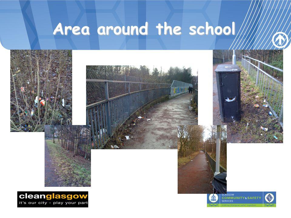 Area around the school