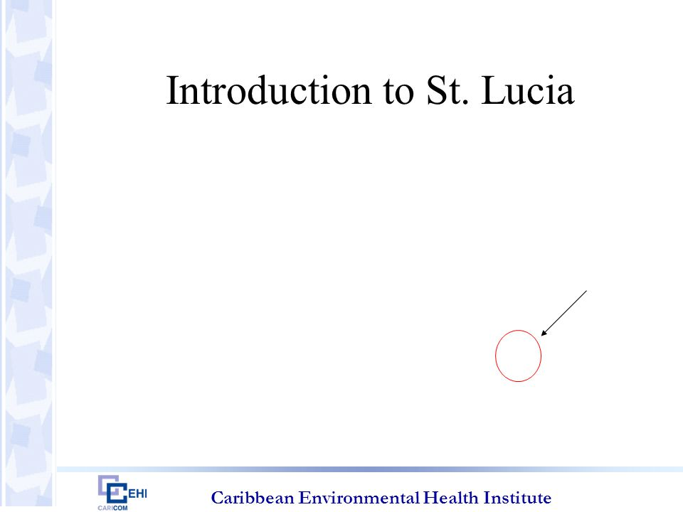 Caribbean Environmental Health Institute Introduction to St. Lucia