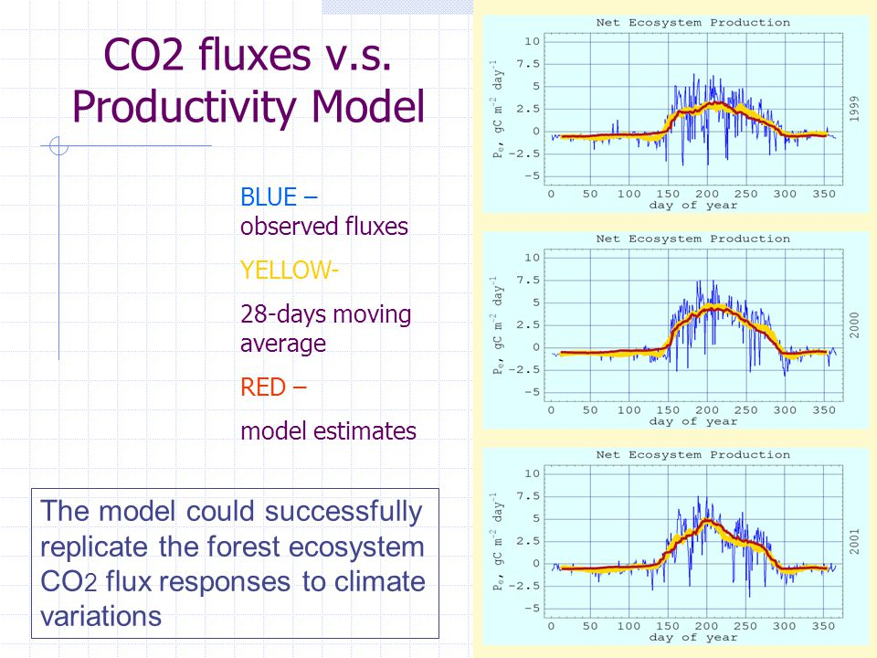 CO2 fluxes v.s.