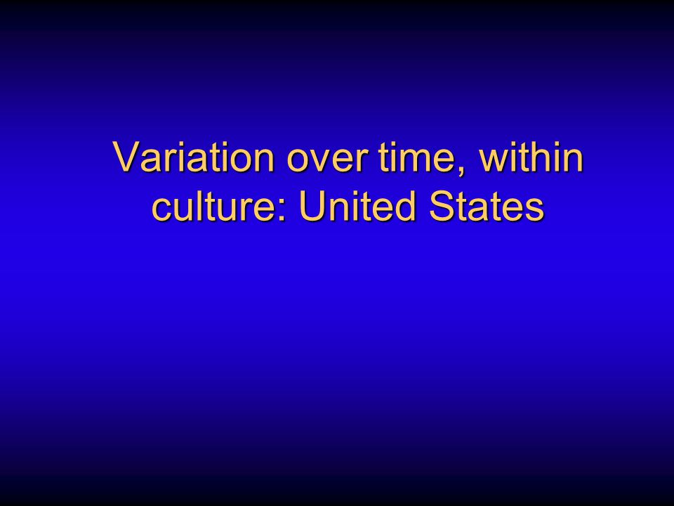 Variation over time, within culture: United States