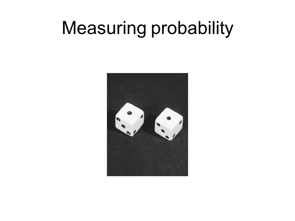 Measuring probability