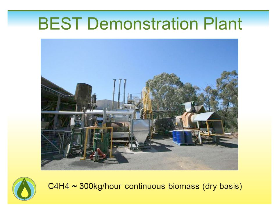 C4H4 ~ 300kg/hour continuous biomass (dry basis) BEST Demonstration Plant