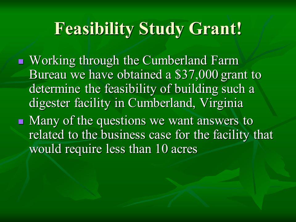 Feasibility Study Grant.