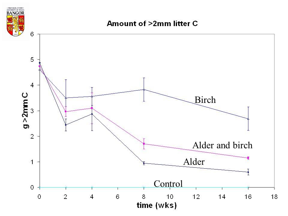Birch Alder and birch Control Alder