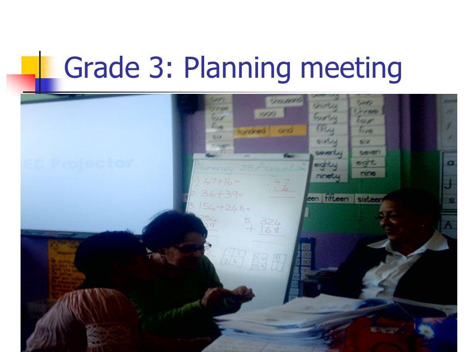 Grade 3: Planning meeting