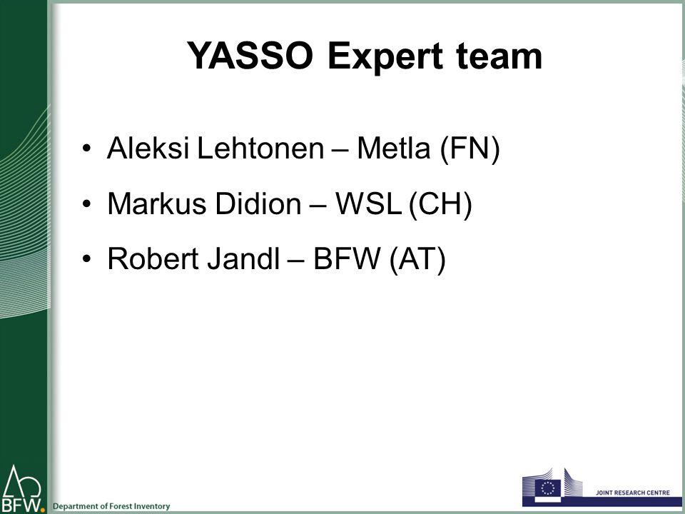 YASSO Expert team Aleksi Lehtonen – Metla (FN) Markus Didion – WSL (CH) Robert Jandl – BFW (AT)