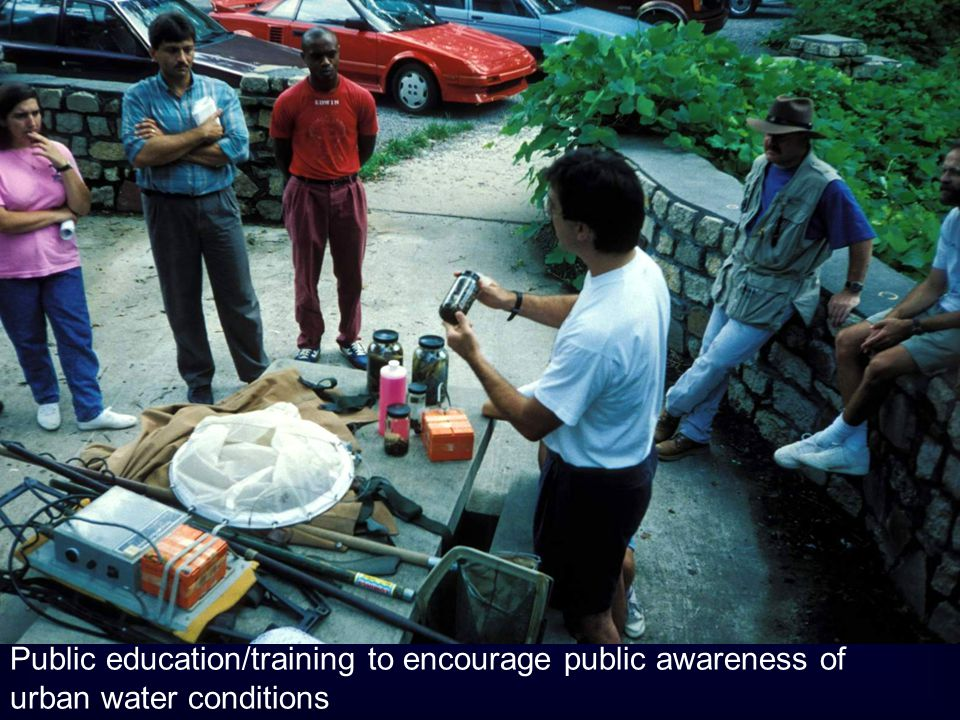 Public education/training to encourage public awareness of urban water conditions