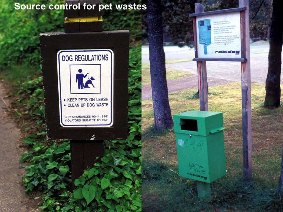 Source control for pet wastes