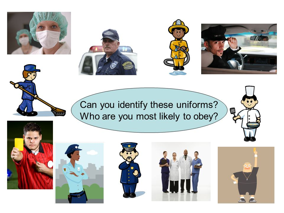 Can you identify these uniforms? Who are you most likely to obey?