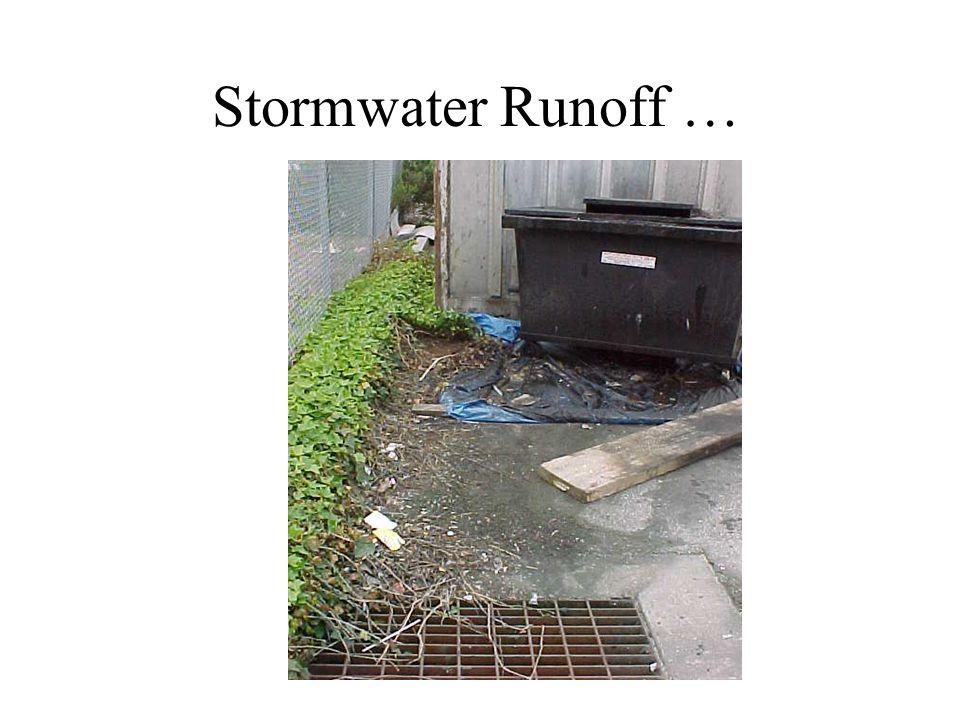 Stormwater Runoff …