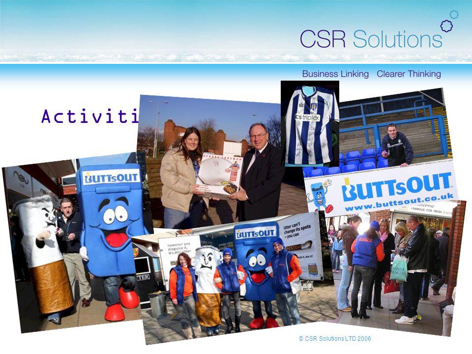 © CSR Solutions LTD 2006 Activities