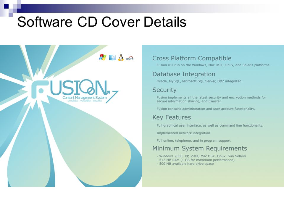Software CD Cover Details