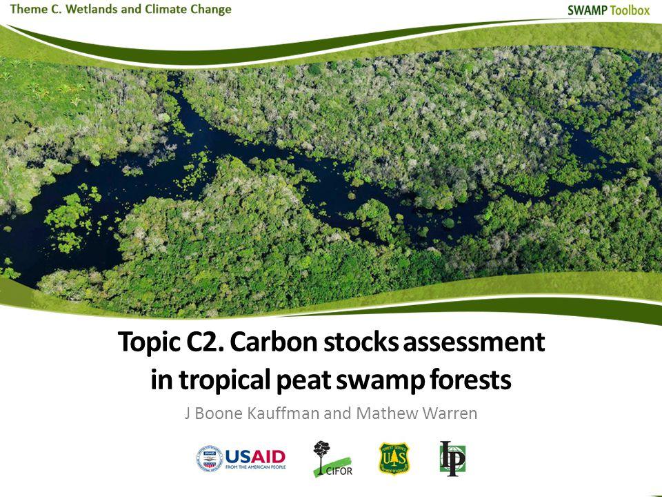  Introduction  C stocks assessment scheme General layout Aboveground biomass Belowground biomass Dead wood and litter sampling Soil sampling  Long-term monitoring Contents Topic C2.