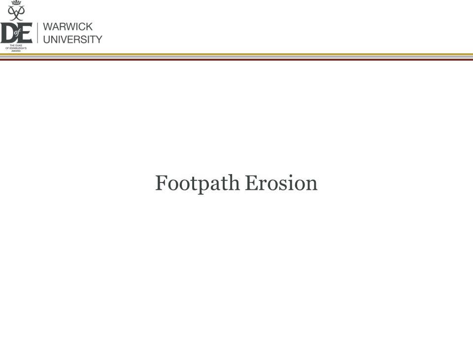 Footpath Erosion