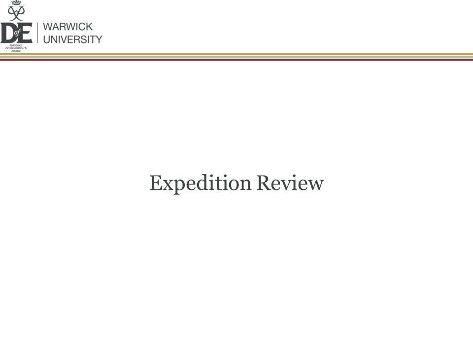 Expedition Review