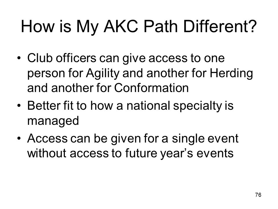 76 How is My AKC Path Different.