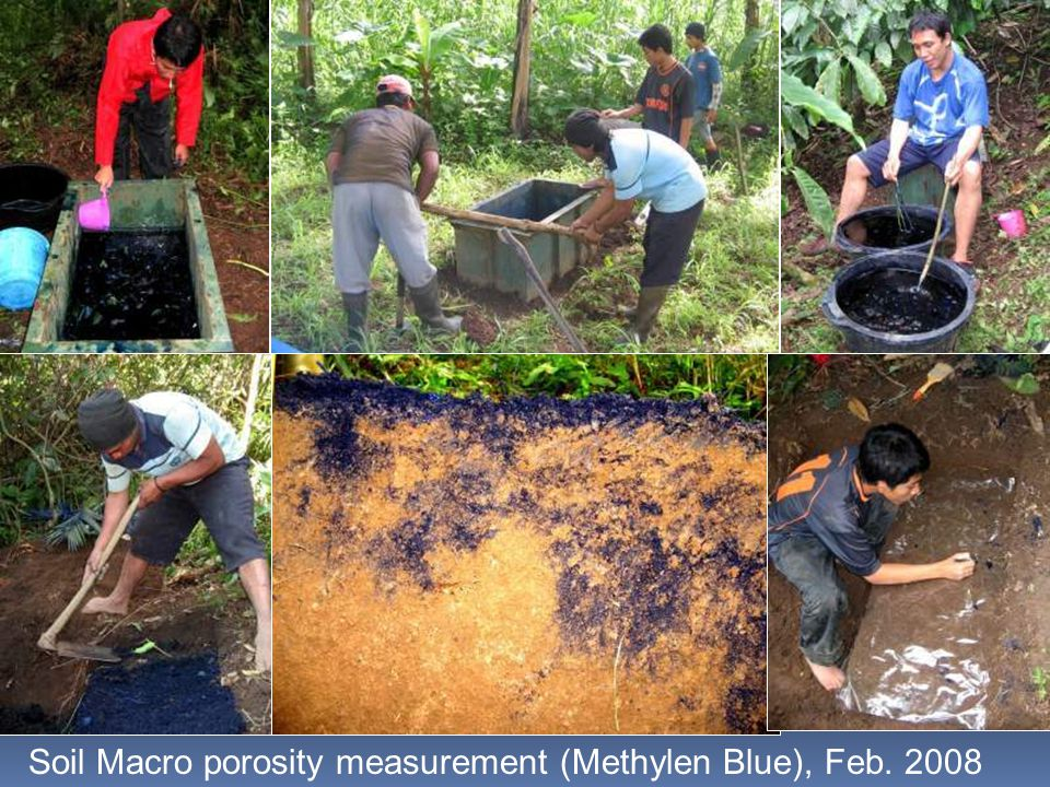 Soil Macro porosity measurement (Methylen Blue), Feb. 2008