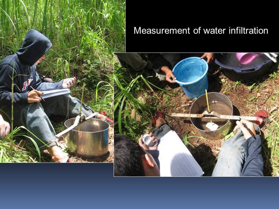 Measurement of water infiltration