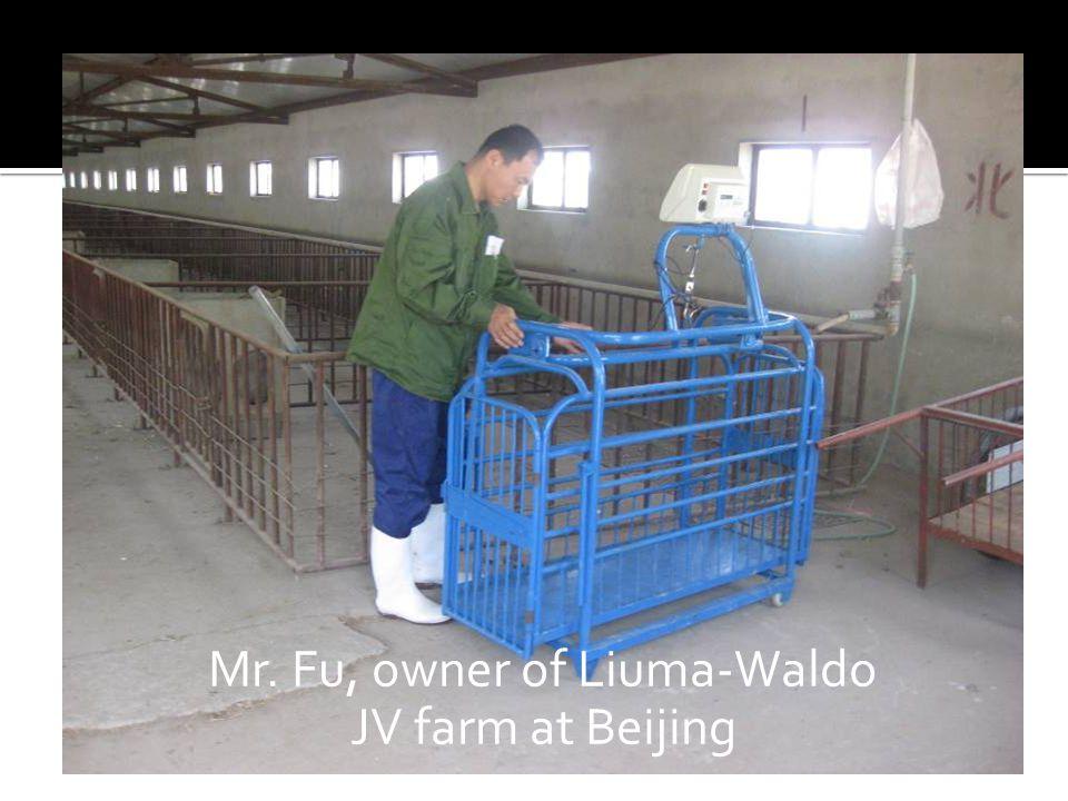 Mr. Fu, owner of Liuma-Waldo JV farm at Beijing