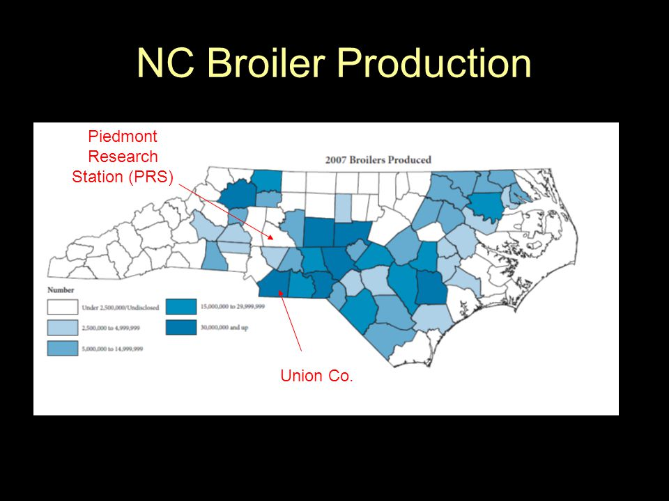 NC Broiler Production Union Co. Piedmont Research Station (PRS)