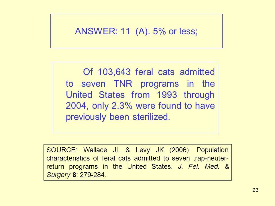 23 ANSWER: 11 (A).