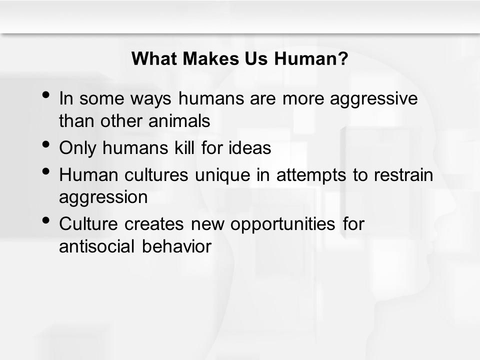 What Makes Us Human.
