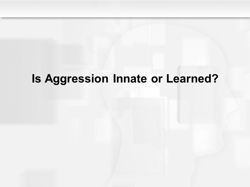 Is Aggression Innate or Learned