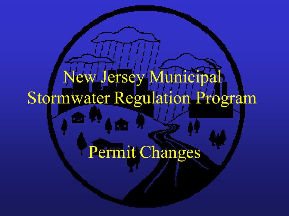 New Jersey Municipal Stormwater Regulation Program Permit Changes